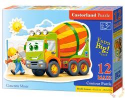 Castorland Maxi Puzzle Betonkeverő 12 db-os (B-120086)