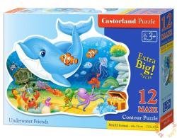 Castorland Maxi Puzzle - Vízalatti barátok 12 db-os (B-120093)