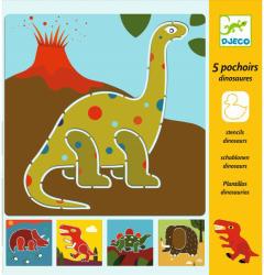 DJECO Rajzsablon - Dinoszauruszok