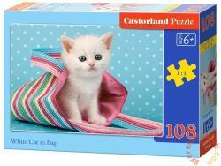 Castorland Fehér cica a táskában 108 db-os (B-010172)