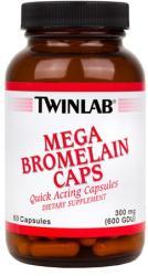 Twinlab Mega Bromelain kapszula - 90 db