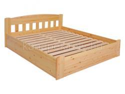 Sára rácsos ágytámlájú, ágyneműtartós, fenyő ágykeret 160x200cm