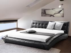 Beliani LILLE luxus franciaágy, bőr ágy, ágyrács 160x200cm
