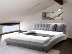 Beliani LILLE luxus franciaágy, szövet ágy, ágyrács 160x200cm