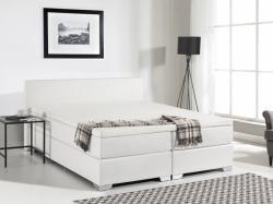 Beliani PRESIDENT - Boxspring ágy, műbőr, táskarugós matrac 160x200cm