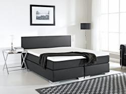 Beliani PRESIDENT - Boxspring ágy, kárpitozott, táskarugós matrac 160x200cm