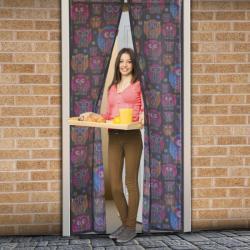 Delight Mágneses szúnyogháló függöny ajtóra 100x210cm - bagoly mintás (11398E)