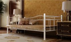 vidaXL Fém ágy matraccal 90x200cm