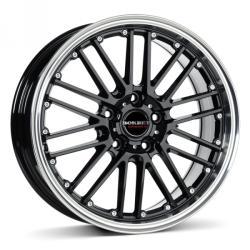 Borbet CW2 black rim polished CB56.6 4/100 17x7 ET38