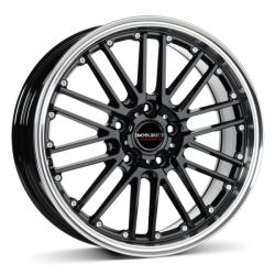 Borbet CW2 black rim polished CB57.06 5/112 17x8 ET35