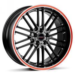 Borbet CW2 black red line 4/100 17x7 ET38