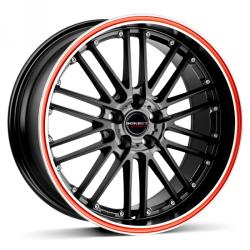 Borbet CW2 black red line 5/100 17x7 ET35