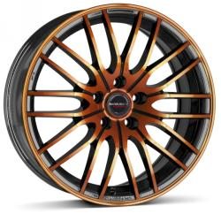 Borbet CW4 black orange glossy 4/100 17x7 ET38