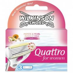 Wilkinson Sword Quattro for Women borotvabetét (3db)