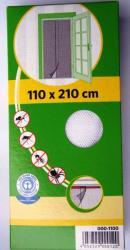 Öntapadós szúnyogháló ajtóra, tépőzárral 210x60cm x 2db