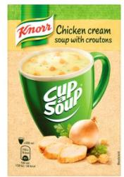 Knorr Cup a Soup Csirkekrémleves Zsemlekockával 16g