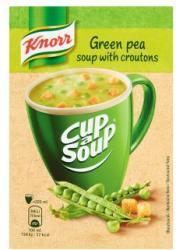 Knorr Cup a Soup Zöldborsókrémleves Zsemlekockával 19g