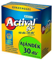BÉRES Actival 50+ Filmtabletta Ginzenggel - 120db