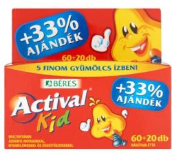 BÉRES Actival Kid Multivitamin Rágótabletta - 20db