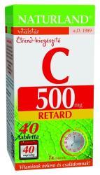 Naturland C-vitamin 500mg retard tabletta - 40 db
