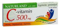 Naturland C-vitamin 500mg - 10db
