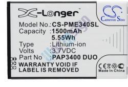 Utángyártott Prestigio Li-ion 1500 mAh PAP3400