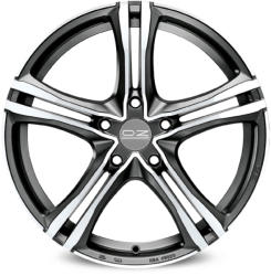 OZ X5B Matt Graphite Diamond Cut CB60.1 5/114.3 17x7.5 ET45
