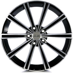 OZ Lounge 10 Matt Black Diamond Cut CB57.1 5/112 17x7.5 ET35