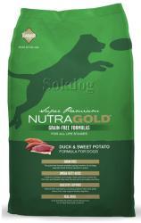 NutraGold Grain Free Duck & Sweet Potato 2x13,6kg