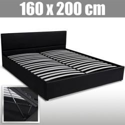 Amira műbőr francia ágy, ágyráccsal 160x200cm