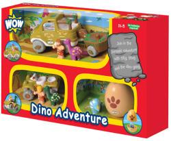 WOW Toys Set de masinuta cu dinozauri 3x1 (W80023)