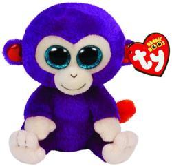 TY Inc Beanie Boos - Grapes, a lila majom 15cm (TY36145)