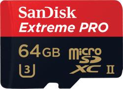 SanDisk microSDXC Extreme Pro 64GB UHS-II/U3/C10 SDSQXPJ-064G-GN6M3