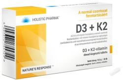 HOLISTIC PHARMA D3+K2-vitamin tabletta - 30 db