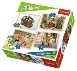 Trefl A Treflikow család kalandjai 4 az 1-ben puzzle (34271)