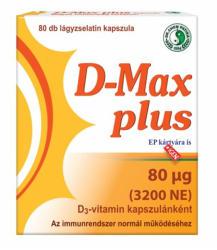 Dr. Chen D-Max Plus D3-vitamin kapszula - 80 db