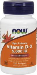 NOW Vitamin D-3 5000 IU kapszula - 120 db