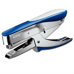 LEITZ Tűzőgép, kézi, 24/6, 26/6, 30 lap, LEITZ 5548 , kék (E55480033) - iroda24