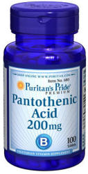 Puritan's Pride Pantothenic Acid - Pantoténsav (B5-vitamin) tabletta - 100 db