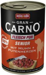 Animonda GranCarno Senior - Chicken & Turkey Hearts 24x400g