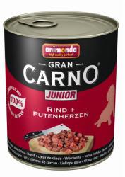 Animonda GranCarno Junior - Beef & Turkey Hearts 800g