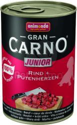 Animonda GranCarno Junior - Beef & Turkey Hearts 24x400g