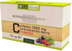 HERBioticum C-vitamin 1000mg+Acai+Acerola+Csipkebogyó tabletta - 30 db