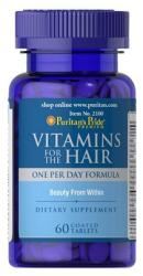 Puritan's Pride Vitamins For The Hair tabletta - 60 db