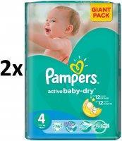 Pampers Active Baby 4 Maxi pelenka, 152 db