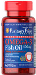 Puritan's Pride Omega-3 Fish Oil 400mg kapszula - 60 db