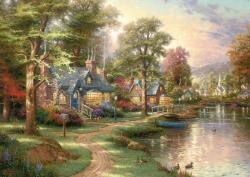 Schmidt Spiele Thomas Kinkade: Hometown Lake 1500 db-os (57452)