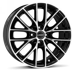 Borbet BS4 black polished 4/108 16x7 ET27