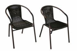 Garth polyrattan kerti szék készlet (2db-os szett)