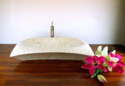Divero Verona mosdókagyló természetes kőből